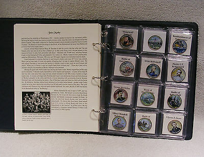 Civil War - Colorized Kennedy Half Dollar Coin Collection - Commemorative Qty 33