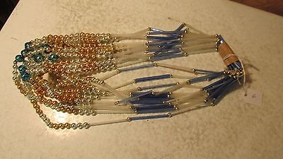 Antique Glass Tubes & Beads Christmas Tree Garland NOS Lot 6