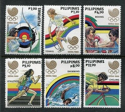 Philippines 1955-1960, MNH, Summer Olympics, Seoul, South Korea