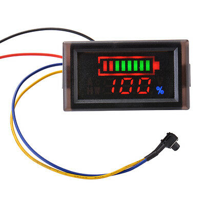 12V 24V 36V Acid Lead Battery Capacity Indicator Voltage Meter Display LED MA927