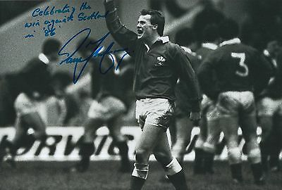 Paul Thorburn Hand Signed Wales Rugby 12x8 Photo 4.