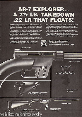 1981 Charter Arms AR-7 Explorer .22 LR Rifle Ad Also appeared 11-80