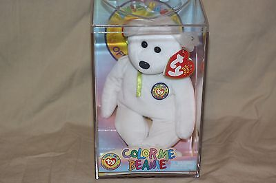 TY Beanie Babies Color Me Beanie Yellow Ribbon New In Case UNOpened 2002
