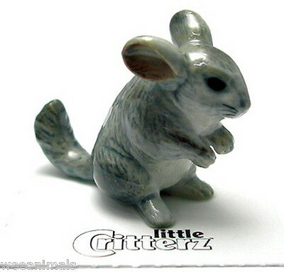 """Little Critterz LC937 """"Andes"""" Chinchilla Figurine Wee Animal Miniature"""