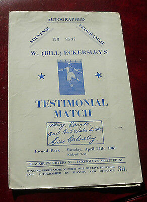 Bill Eckersley Testimonial 1961 Blackburn v Select XI