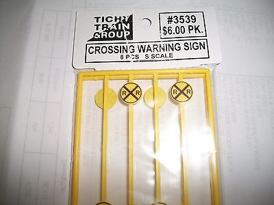 Tichy S Scale Crossing Warning Signs 8 pieces  #3539  Bob The Train Guy