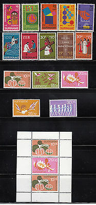Suriname 1972-1974 Semi-postal Collection All mint never hinged