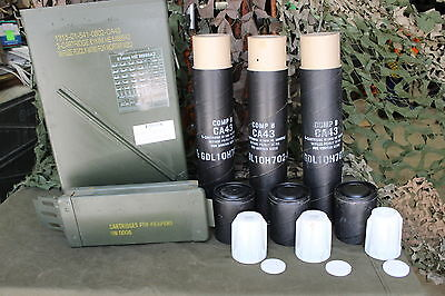 81 Mm Morter Shell Ammo Can With Rare Internal Packaging  See All Pics Vgc