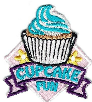 Girl CUPCAKE FUN decorating Cup Cake Patches Crests Badges SCOUT GUIDE making