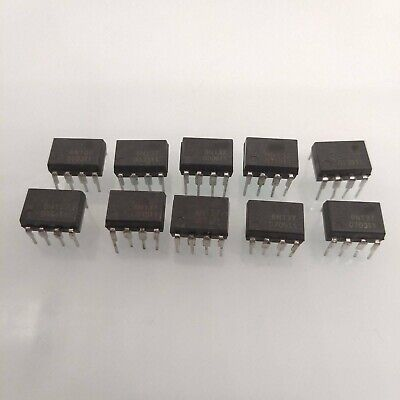 10 pcs 6N137 DIP8 FSC Isolator 2.5kVRMS 1CH OPEN New