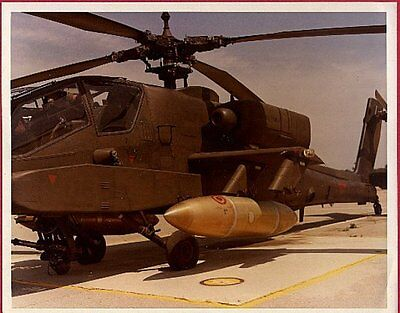 1980s US Army Apache Helicopter 8x10 Unpublished Original Photo