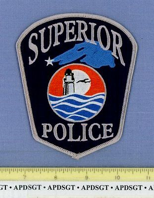 SUPERIOR WISCONSIN Sheriff Police Patch LIGHTHOUSE