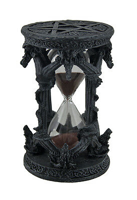 Dragon and Pentagram Black Stone Finish Hourglass Sand Timer