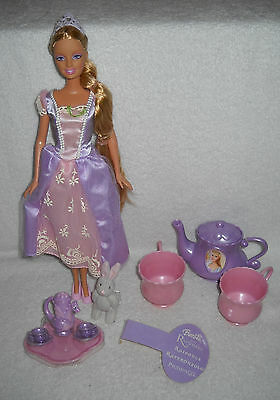#6554 New Displayed Mattel Rapunzel Barbie Tea Party Foreign Issue