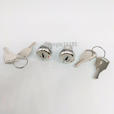 2 Set Key Switch OFF-ON Lock Metal Toggle Lock Security KS-02 Electronic New