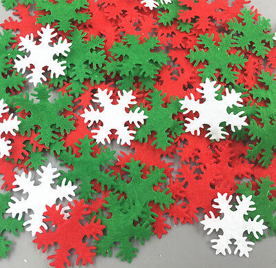 500X Mixing Felt Snowflake Kids Appliques Christmas Decorative 30MM