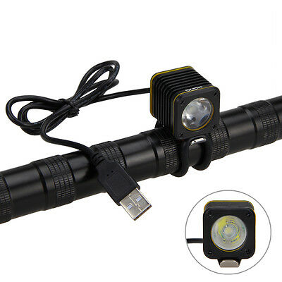 Waterproof USB 5000lm 4 modes XM-L T6 LED Bicycle Light Head Bike Torch Lamp A