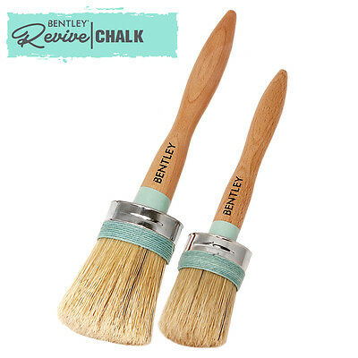 Charles Bentley Set 2 Chalk Paint Brushes for Furniture Decorating Shabby Chic