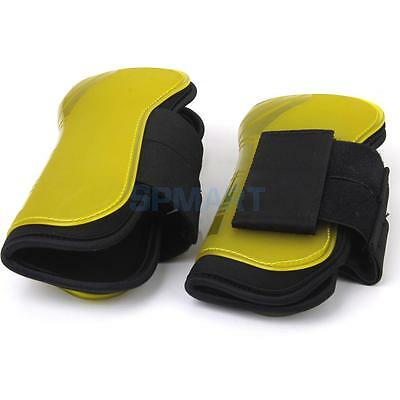 PU Leather & Neoprene Sling Tendon Support Horse Brushing Boots Full Size