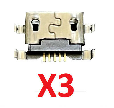 3X New USB Charger Charging Port Connector For Alcatel One Touch Fierce XL 5054N