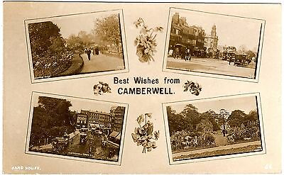 Rare Real Photo Postcard Ruskin Park And Camberwell Green-Camberwell-Surrey 1917
