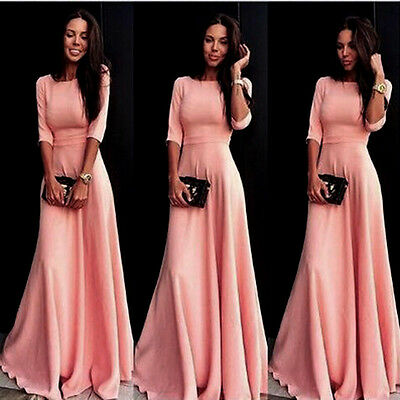 Womens Evening Party Ball Prom Gown Formal Bridesmaid Cocktail Long Maxi Dress
