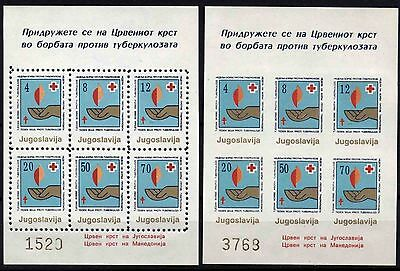 521 Yugoslavia - Macedonia 1988 Red Cross, Perf. + Imperf. Booklets (2) MNH