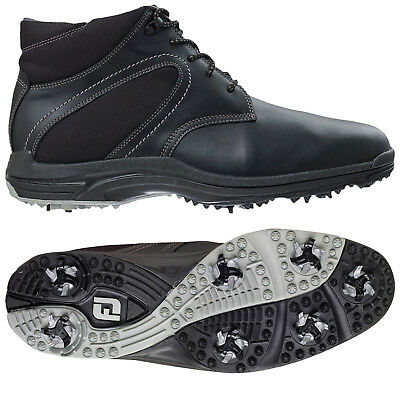 Footjoy Mens Winter Golf Boots - New Waterproof Leather Shoes Thermal Black Fj