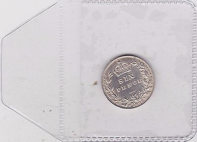 1902 Edwardian Sixpence In Near Perfect Condition