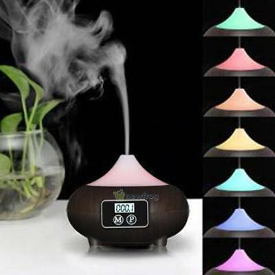 LED Essential Diffuser Oil Ultrasonic Humidifier Air Aroma Aromatherapy Purifier