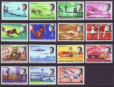 Solomon Islands 1968 SC 180-194 MNH Set