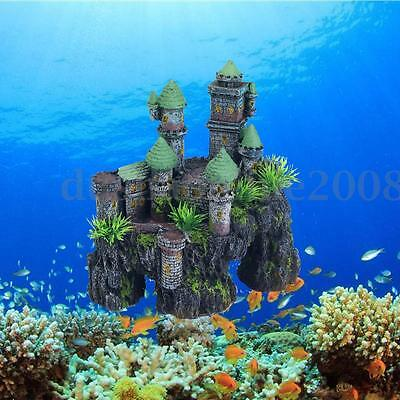 Château d'Europe Resine Artificielle Aquarium Ornement Décor Poisson Fish Tank