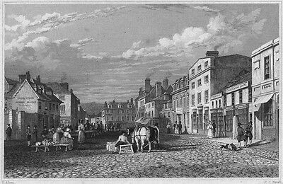 CORNWALL. Truro 1831 old antique vintage print picture