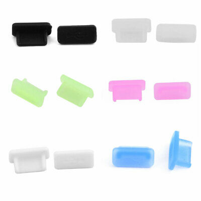 Rubber Female Port Anti Dust Cover Cap Plug Protector 10pcs for Table USB Type C