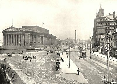 LIVERPOOL. Lime Street, Liverpool 1900 old antique vintage print picture