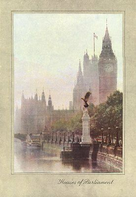 LONDON. Houses of Parliament 1926 old vintage print picture