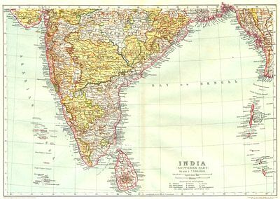 INDIA. India 1910 old antique vintage map plan chart