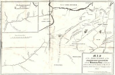 TREATY OF FORT STANWIX 1768. Indian frontiers. OH NY NJ VA MD PA 1849 old map