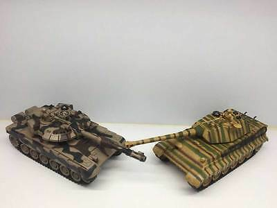 Large Army Interactive Rc Radio Remote Control Infrared Twin Battle Tank 1:28