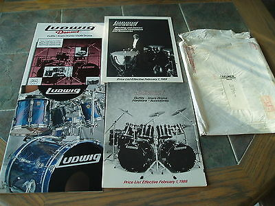 Ludwig Drum Percussion 1988 & 1992 Catalogs Price Lists