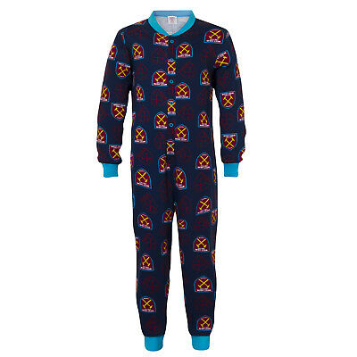 West Ham United FC Official Football Gift Boys Kids Pyjama All-In-One
