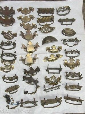 40  Vintage Assorted  Brass  Drawer Pulls 3""