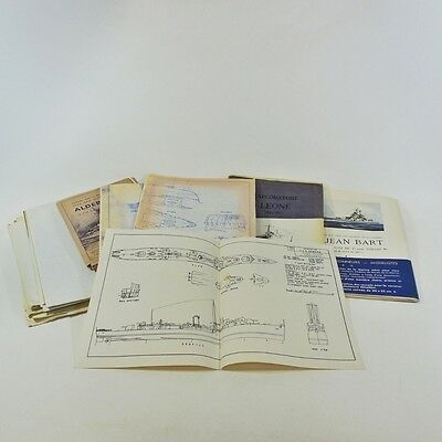 Lot 17 Ship Blueprints for Models -Seagull Plans Warship Drawings US / Foreign