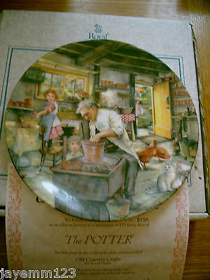 Royal Doulton Plate Old Country Crafts The Potter Susan Neale Box  + Cert