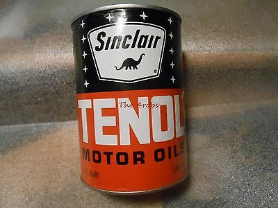 Sinclair Tenol Motor Oil Quart Can #3