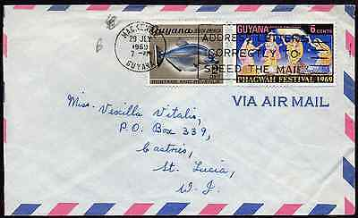 GUYANA: (13901) ADDRESS LETTERS CORRECTLY cancel/cover
