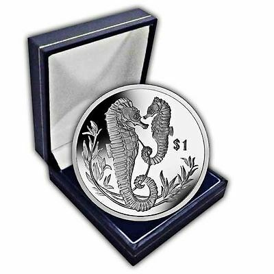 The 2017 Seahorse Unc. CuNi Coin in a box