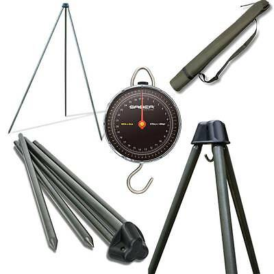 Saber 60kg Weigh Scales + Carp Deluxe Fishing Tripod System For Weighing