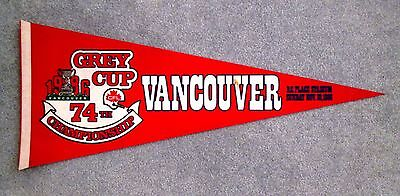 1986 Grey Cup Pennant Hamilton Tiger-Cats win 74th CFL Championship gmc1