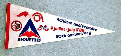 1986 Montreal Alouettes 40th Anniversary Pennant Canadian Football League gmc1